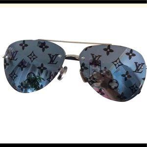 LV Monogram mirrored lenses sunglasses handmade